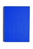 Blauw geïsoleerde notitieboekje Stock Fotografie