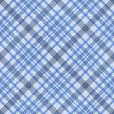 Blauw gecontroleerd stoffen naadloos patroon Stock Foto's