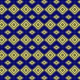 Blauw geel patroon Stock Foto's