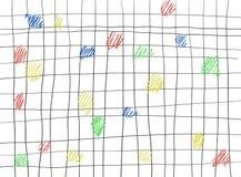 Blauw Geel Rood en Groen Geschilderd zwart Gruis royalty-vrije illustratie