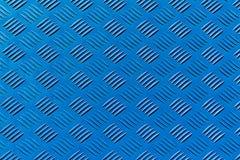 Blauw geribbeld metaalblad royalty-vrije stock foto's
