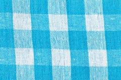 Blauw geruit canvas als achtergrond Stock Fotografie