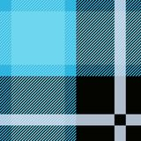 Blauw Geruit Schots wollen stof, plaid naadloos patroon Geweven Plaid royalty-vrije illustratie