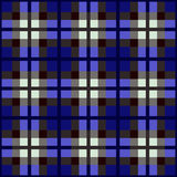 Blauw geruite Schotse wollen stofpatroon Stock Foto's