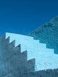 Blauw Geschilderd Stappenpatroon Royalty-vrije Stock Fotografie