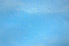 Blauw geschilderde grunge concrete muur voor achtergronden Royalty-vrije Stock Foto's