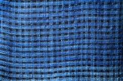 Blauw gestreept katoen Stock Afbeelding