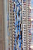 Blauw Getelegrafeerd Communicatienetwerk Stock Foto's