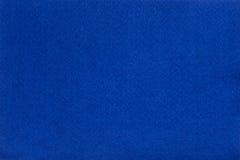 Blauw gevoelde weefseldoek, de achtergrond van de close-uptextuur Stock Afbeelding