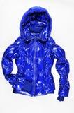 Blauw gewatteerd jasje royalty-vrije stock afbeelding