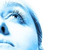 Blauw gezicht Royalty-vrije Stock Afbeeldingen