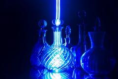Blauw Glas Stock Foto