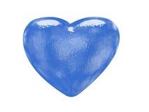Blauw glaseffect gevormd hart stock illustratie