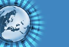 Blauw Globaal Thema Stock Afbeeldingen