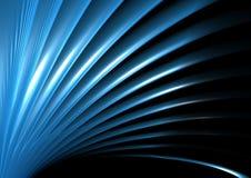 Blauw golf en licht Royalty-vrije Stock Afbeeldingen