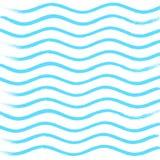 Blauw golfpatroon, royalty-vrije illustratie