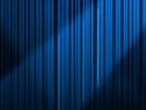Blauw gordijn Stock Afbeeldingen