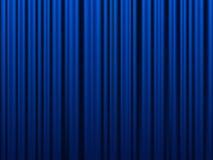 Blauw gordijn Stock Foto's