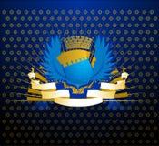 Blauw Gouden Schild Stock Afbeeldingen