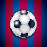 Blauw - granaatappelachtergrond met voetbalbal Royalty-vrije Stock Afbeelding