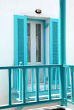 Balkon met traliewerk Royalty-vrije Stock Afbeeldingen