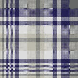 Blauw grijs controle textiel naadloos patroon stock illustratie