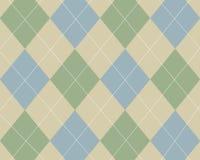 Blauw, groen en tan argyle Royalty-vrije Stock Fotografie