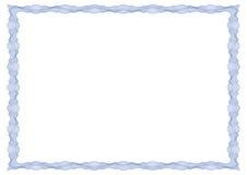 Guilloche kader voor certificaat, diploma of bankbiljet Stock Foto's