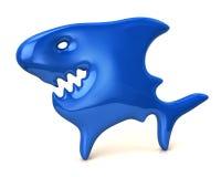 Blauw haaipictogram Stock Afbeelding