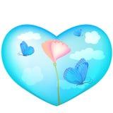 Blauw hart stock illustratie