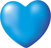 Blauw Hart Royalty-vrije Stock Afbeelding
