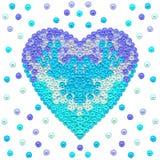 Blauw Hart Kinderen` s illustratie vector illustratie