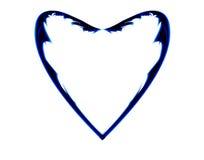 Blauw hart met weerhaken. Royalty-vrije Stock Foto's