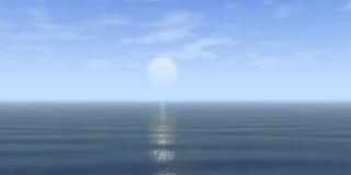 Blauw hemel en water Stock Foto