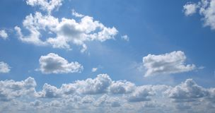 Blauw hemelpanorama Royalty-vrije Stock Afbeeldingen