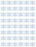 Blauw herhaald bloemenpatroon Royalty-vrije Stock Foto