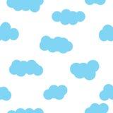 Blauw het behangontwerp van het wolkenpatroon Stock Fotografie