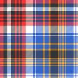 Blauw het geruite Schots wollen stof naadloos patroon van de controleplaid vector illustratie