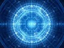 Blauw het gloeien magisch ontstaan in ruimte stock illustratie