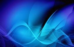 Blauw het golven bedrijfs abstract vectorontwerp als achtergrond vector illustratie