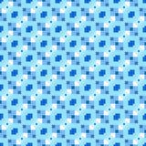 Blauw het herhalen patroon royalty-vrije illustratie
