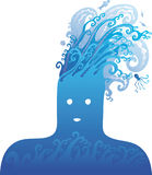Blauw hoofd Stock Afbeelding