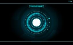 Blauw hud van de cirkel abstract technologie futuristisch ontwerp als achtergrond voor Spel sc.i-FI Royalty-vrije Stock Fotografie
