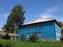 Blauw huis Royalty-vrije Stock Afbeeldingen