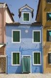 Blauw Huis Stock Afbeeldingen