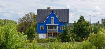 Blauw huis Royalty-vrije Stock Fotografie