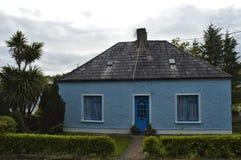 Blauw huis Stock Afbeelding