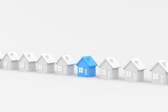 Blauw Huis Stock Foto's
