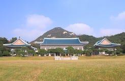 Blauw huis presidentieel bureau Seoel Korea royalty-vrije stock afbeeldingen