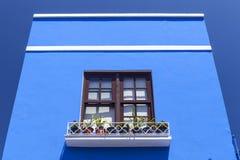 Blauw huis in Tazacorte, La Palma, Canarische Eilanden royalty-vrije stock foto